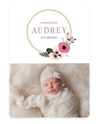 Bespoke Baby Birth Announcement Cards