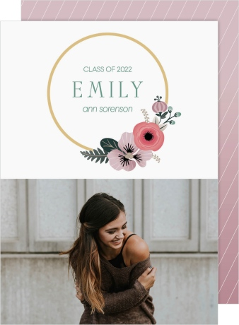 Bespoke Wreath Graduation Announcement Cards