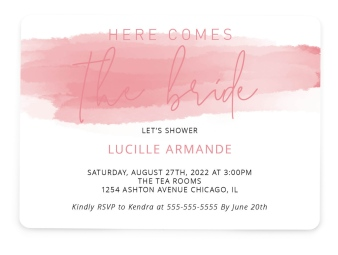 Here She Comes Bridal Shower Invitations