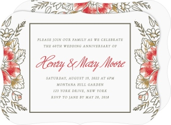 Blessed Blooms Anniversary Invitations