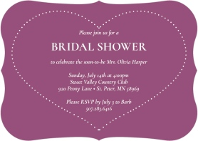 Hearts for Her Bridal Shower Invitations