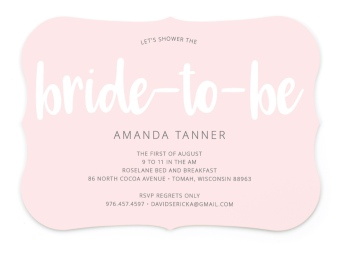 Bride-To-Be Beauty Bridal Shower Invitations