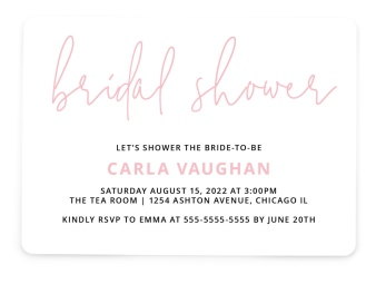 Sweet Chevron Bridal Shower Invitations