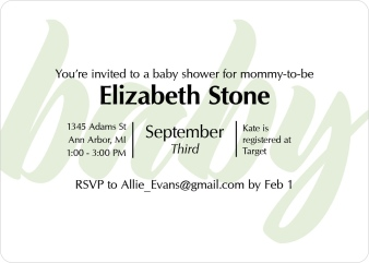Lovely Dots Baby Shower Invitations