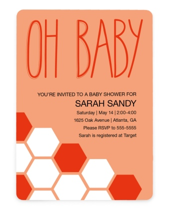 Sweet Honeycomb Baby Shower Invitations
