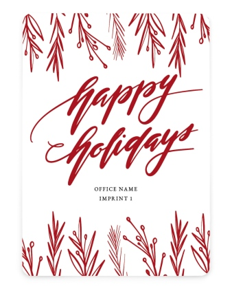 Balsam Border Business Holiday Cards