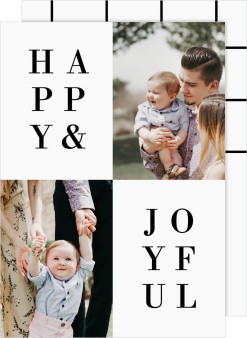 Joyful Type Christmas Cards