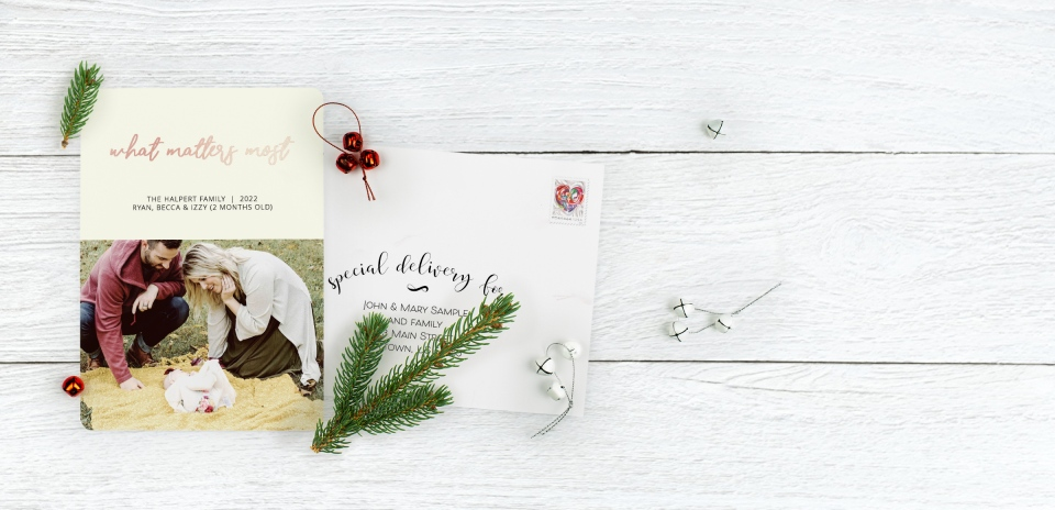 Christmas Card with Optional Guest Addressing Service