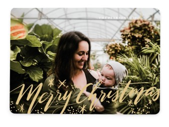 Merry Christmas Stars Christmas Cards