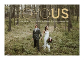Joyous Song Wedding Christmas Cards