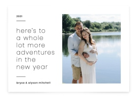 New Year Announcement Christmas Cards