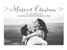 Pure Joy Wedding Christmas Cards