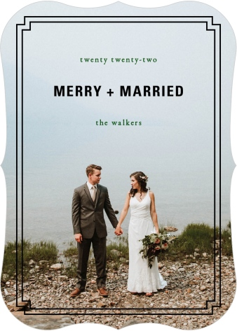 We Are Merry Wedding Christmas Cards