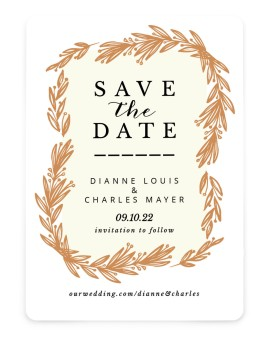 Lovely Leaves Save the Date Cards