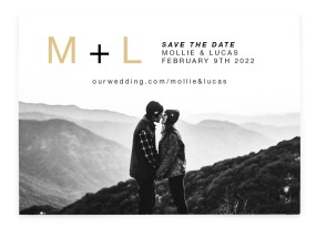New Initials Save the Date Cards