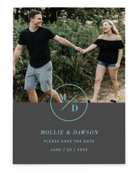 New Monogram Save the Date Cards