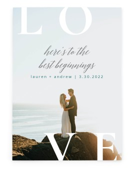 Beginning of Love Save the Date Cards