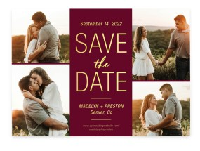 Romantic Glow Save the Date Cards