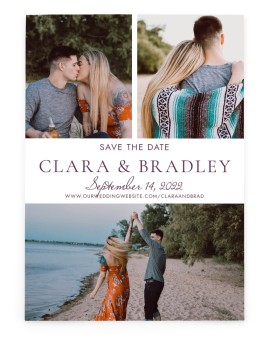 Chic Intrigue Save the Date Cards