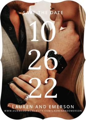 Stacked Sophisticate Save the Date Cards