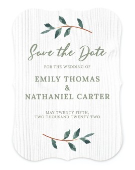 Brushed Allure Save the Date Cards