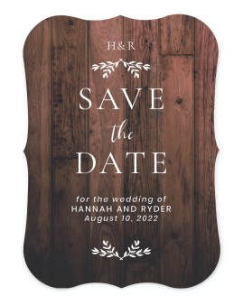 Rustic Sprigs Save the Date Cards