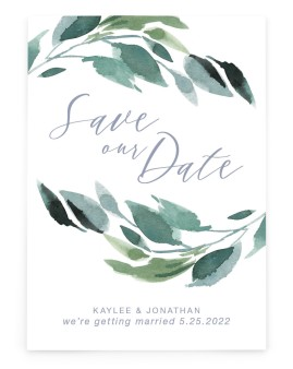 Gorgeous Greens Save the Date Cards