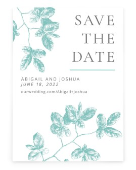 Leafy Elegance Save the Date Cards
