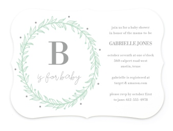 Baby Crown Baby Shower Invitations