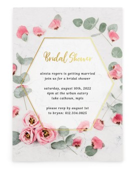 Bridal Bliss Bridal Shower Invitations