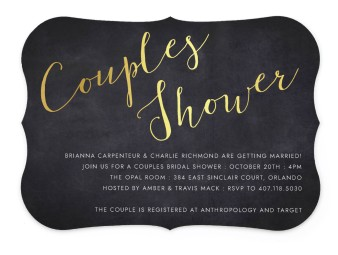 Couple of the Hour Bridal Shower Invitations