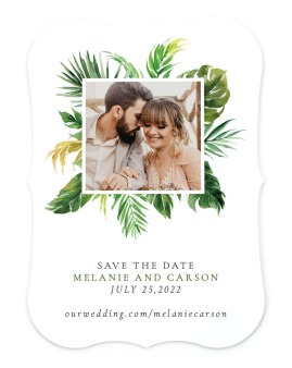 Beach Palms Save the Date Cards