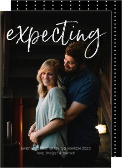 Expecting Birth Announcement Cards