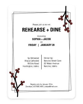 Dining Delight Save the Date Cards