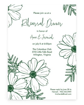Gilded Bloom Save the Date Cards