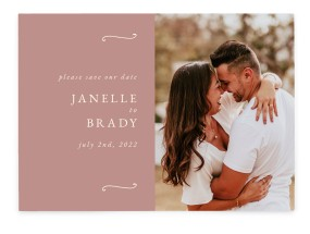 Modern Whisper Save the Date Cards