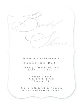 Soon to be Soiree Bridal Shower Invitations