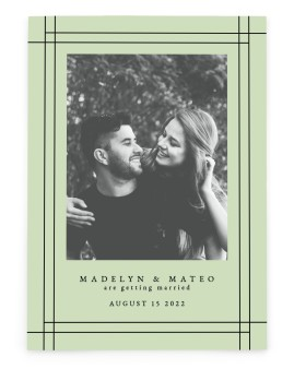 Mod Frame Save the Date Cards