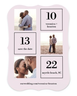 Stacked Squares Save the Date Cards