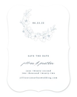 Floral Sketch Save the Date Cards