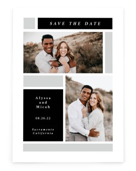 Framed Boxes Save the Date Cards