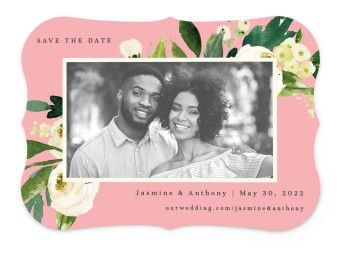 Wedding Florals Save the Date Cards