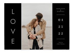 Cozy Love Save the Date Cards