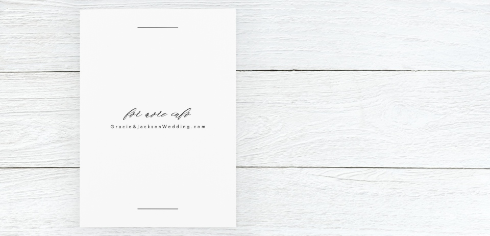 Save the Date Card Back