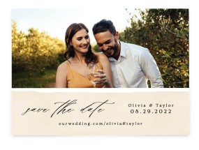 Sweeping Romance Save the Date Cards
