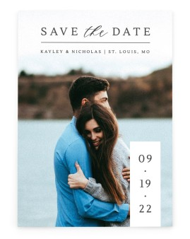 Date Block Save the Date Cards