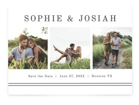 Fun Photostrip Save the Date Cards