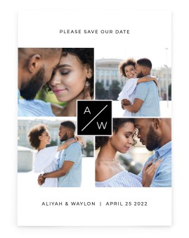 Monogram Cornerstone Save the Date Cards