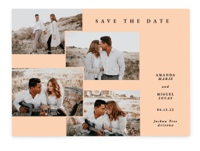 Calm Collage Save the Date Cards
