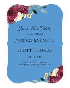 Floral Touch Save the Date Cards